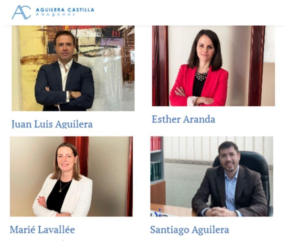 Equipo de abogados y partners Aguilera Castilla Abogados